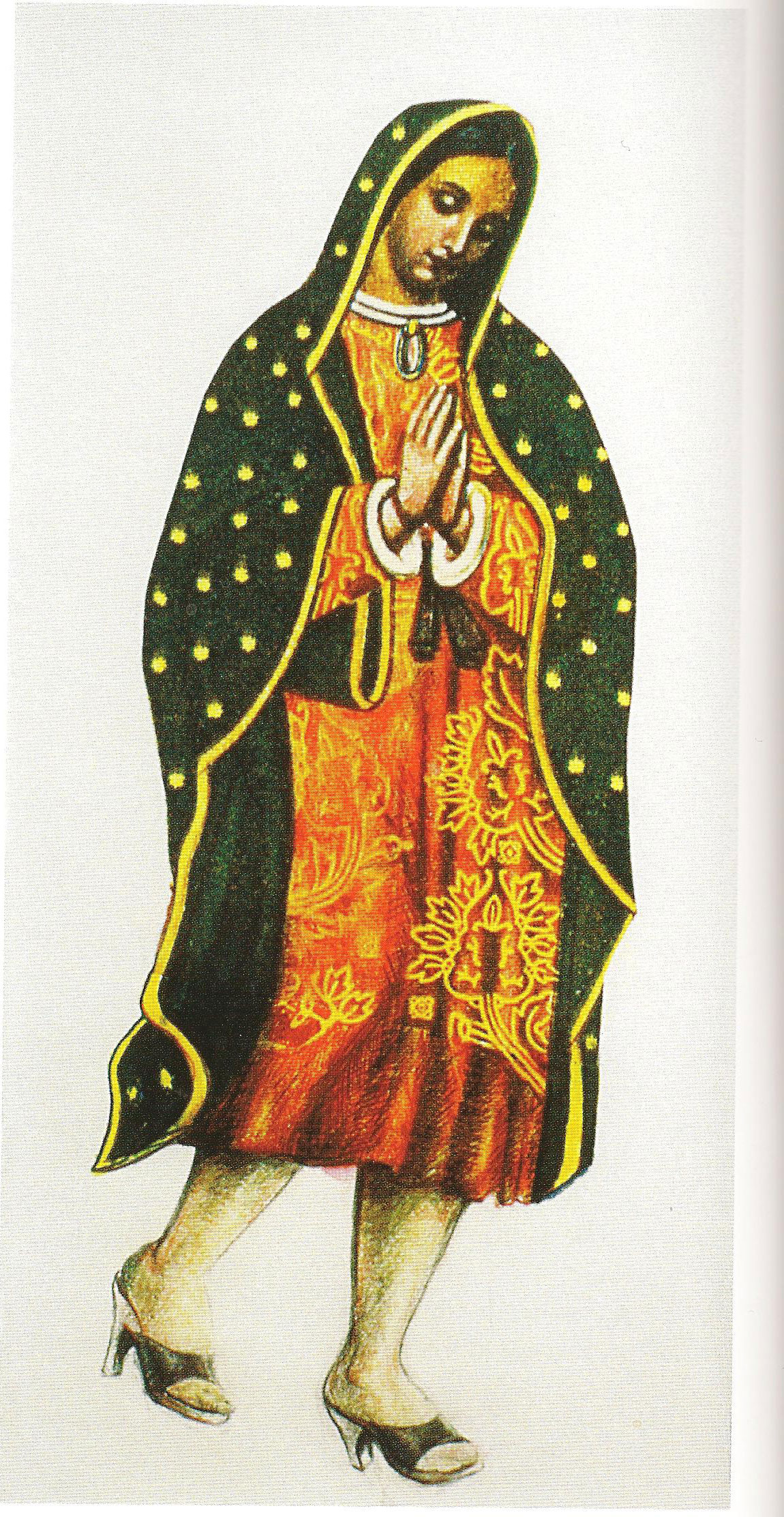 Walking Guadalupe, 1978. Mixed-media collage, 6 x 10 inches.