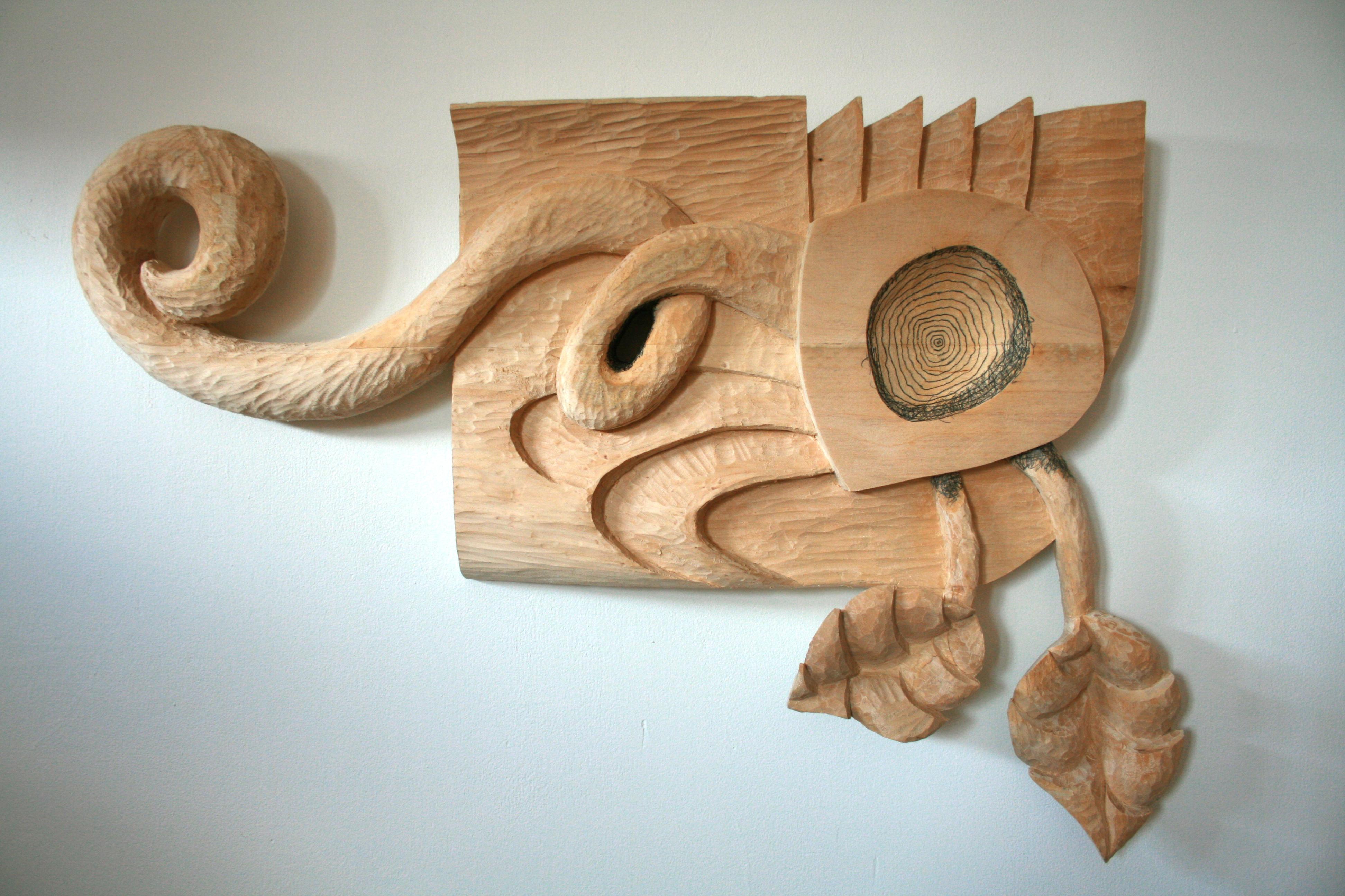 Odalisque 18x28x3in wood, graphite
